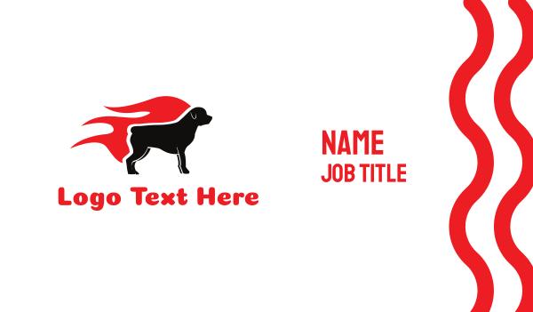 breeder - Hot Rottweiler Business card horizontal design