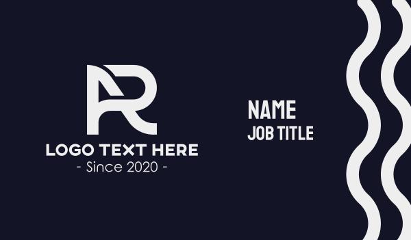 ar - AR Letters Monogram Business card horizontal design