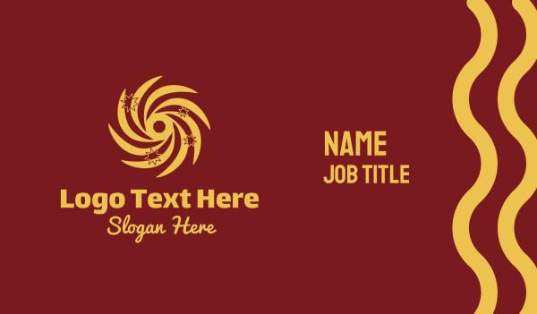 fortune telling - Astral Sun Stars Business card horizontal design