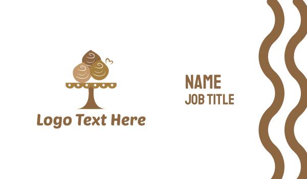 tradition - Chocolate Dessert  Business card horizontal design