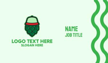Hops Flower Cap  Business Card