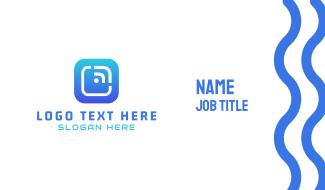 Tech Button  Business Card