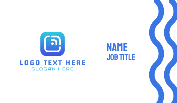 app developer - Tech Button  Business card horizontal design