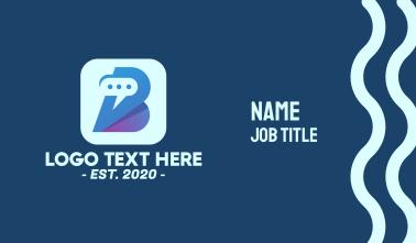 Messenger App Letter B Business Card