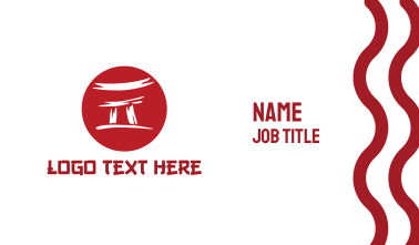 Red Japan Arch Business Card