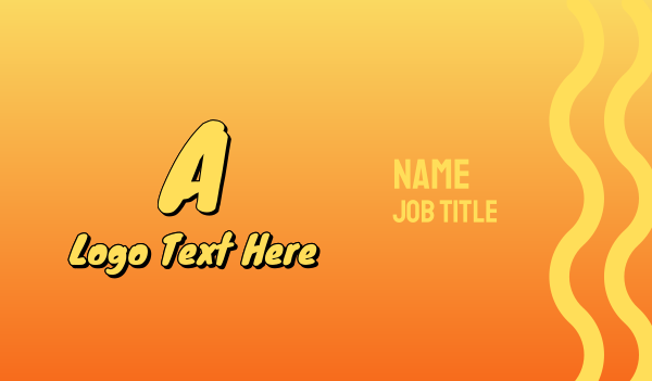 casual - Comic Yellow Letter Business card horizontal design