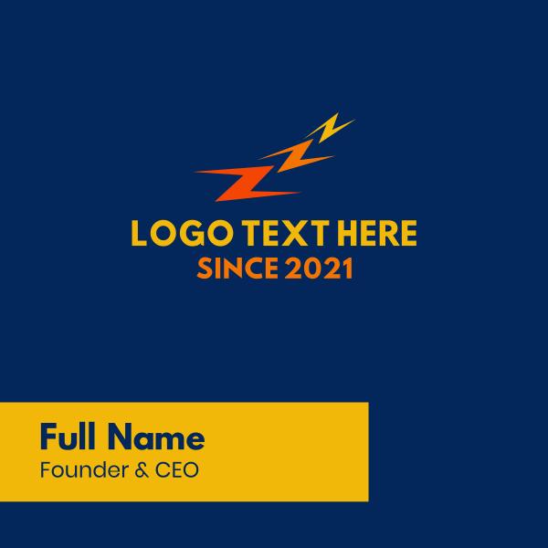 Letter Z Thunderbolt Energy Business Card