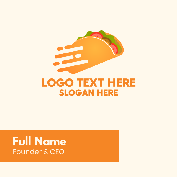 Fast Mexican Taco Business Card