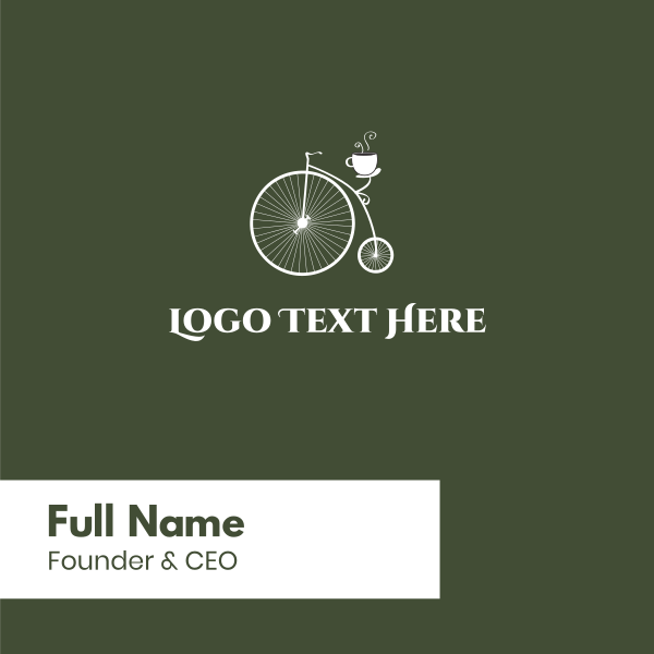 Old Bicycle Cafe Business Card