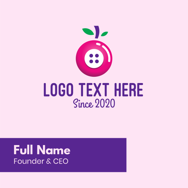 Cherry Button Business Card