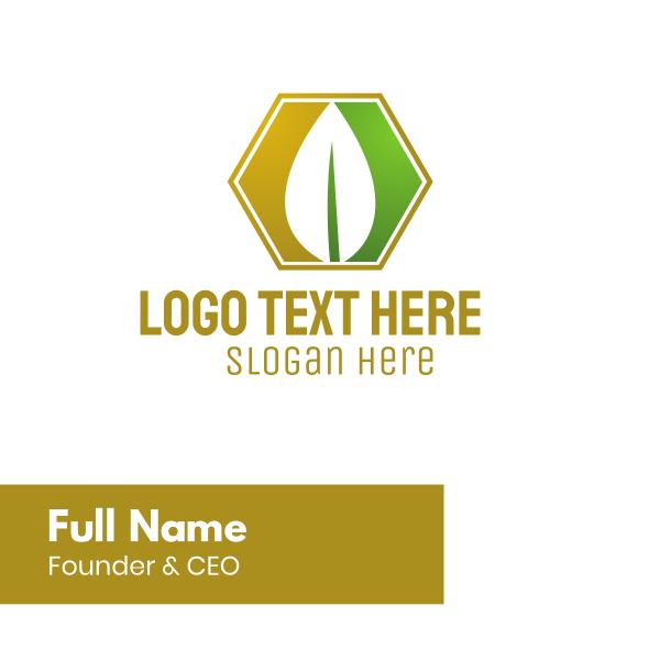 Leaf Hexagon Business Card