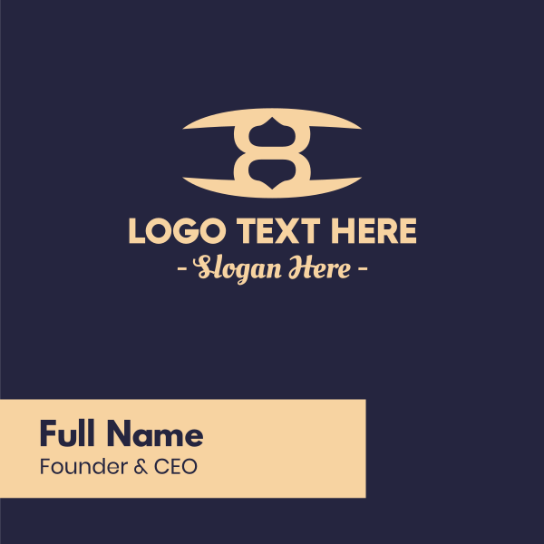 Elegant Number 8 Business Card