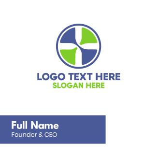 Plus Sign Circle Business Card