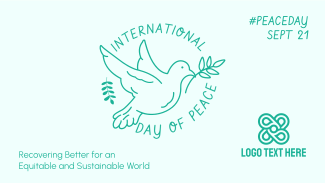 Peace Dove Outline Facebook event cover