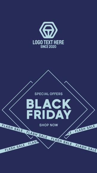 Flash Sale Black Friday Facebook story