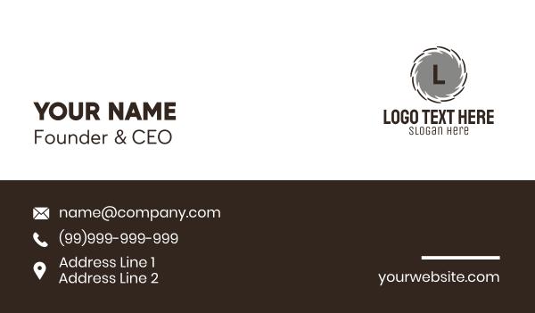 joinery - Circular Saw Lettermark Business card horizontal design
