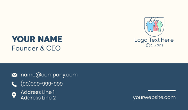 clothing line - Baby Clothes Apparel Business card horizontal design