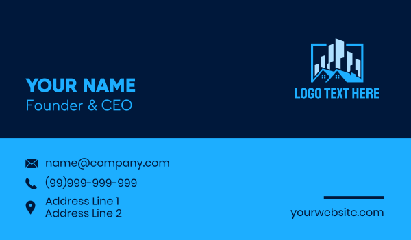 urban planner - Urban Residential Property Business card horizontal design