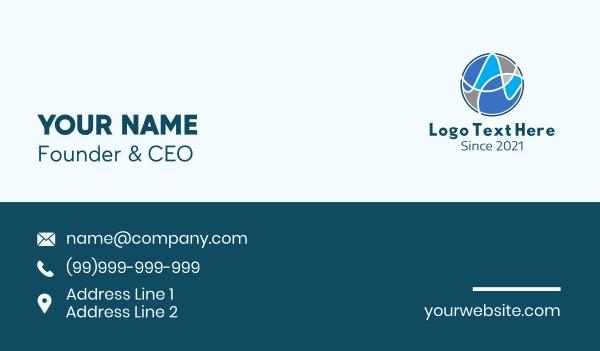 world - International Network Technology  Business card horizontal design