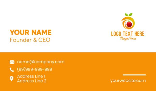 dietitian - Orange Fruit Letter O Business card horizontal design