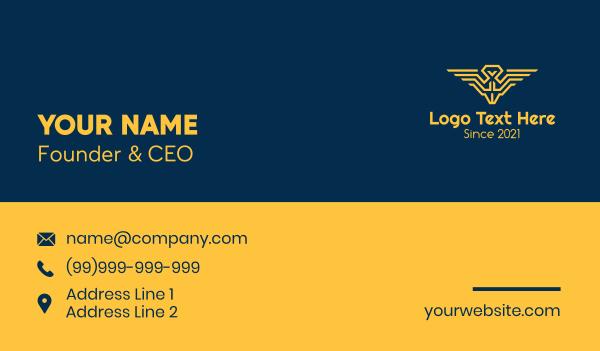 military academy - Pilot Wings Emblem Business card horizontal design