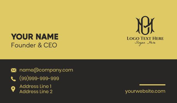 hospitality - Fancy M & O Monogram  Business card horizontal design