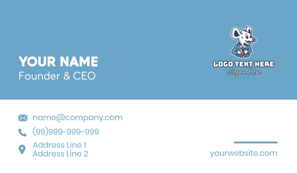suit - Business Rat Suit Business card horizontal design