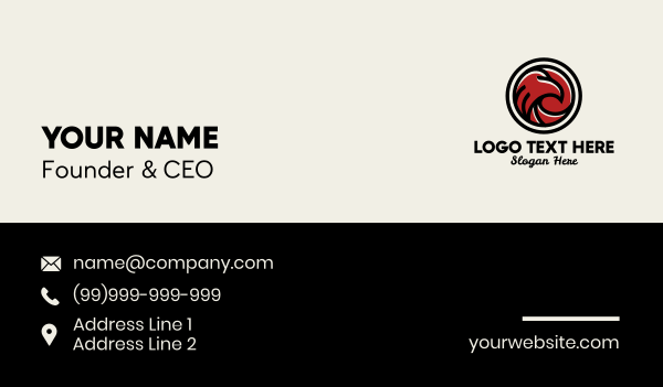 e sports - Red Falcon Gaming  Business card horizontal design