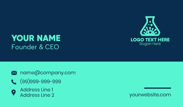 influenza - Virus Laboratory Business card horizontal design