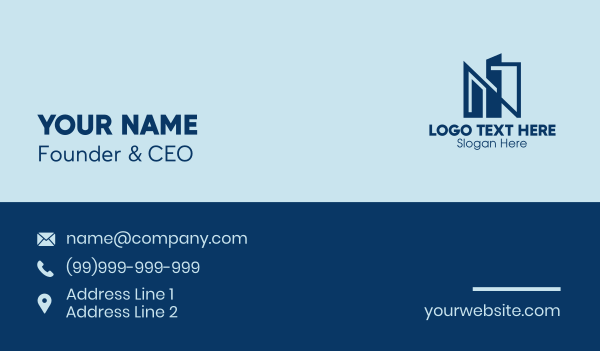 urban planner - City Letter N  Business card horizontal design