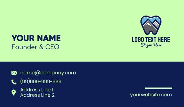 braces - Mountain Peak Dental Business card horizontal design