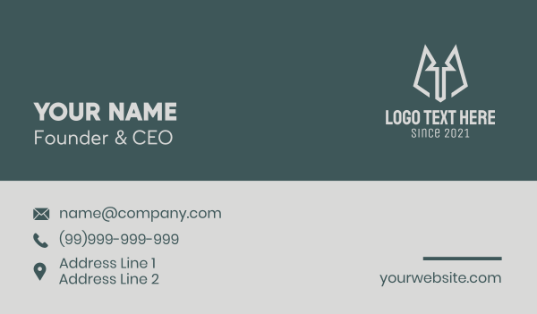 animal welfare - Grey Minimalist Wolf Business card horizontal design