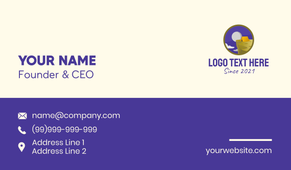 outdoor activity - Mountain Peak Camping Business card horizontal design