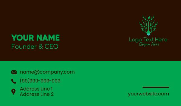 element - Eco Friendly Leaf Droplet Business card horizontal design