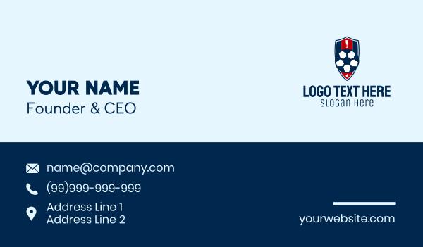 football equipment - Soccer Ball Emblem  Business card horizontal design