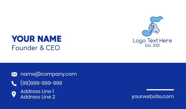 music licensing - Music Quarter Note  Business card horizontal design