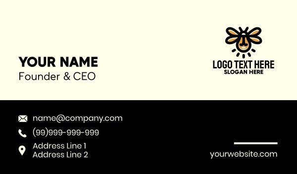 lighting - Light Bulb Firefly Business card horizontal design