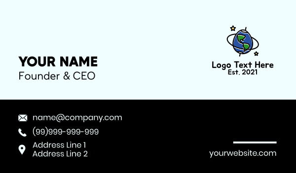 explore - Planet Earth Egg Business card horizontal design