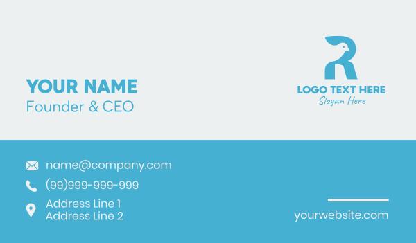 magpie - Blue Dove Letter R  Business card horizontal design