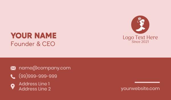 girlfriend - Romantic Fashion Lady  Business card horizontal design