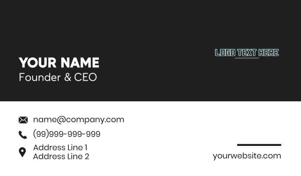text logo - Cyberpunk Wordmark Business card horizontal design