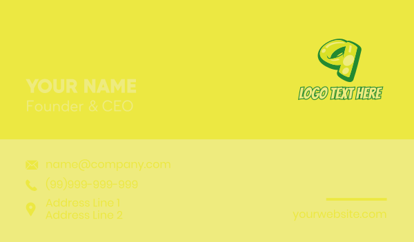 glossy - Graphic Gloss Number 9 Business card horizontal design