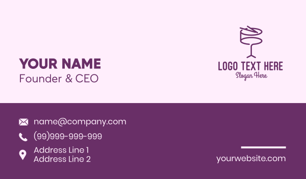 music lesson - Simple Purple Drum Business card horizontal design