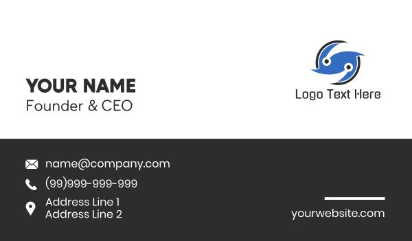 turbine - Tech Letter S Business card horizontal design