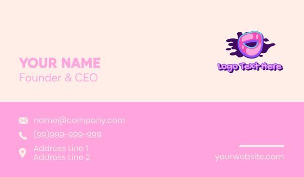 pop culture - Pop Graffiti Art Number 0 Business card horizontal design