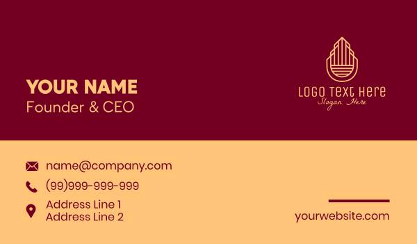 property developer - Elegant Building Property  Business card horizontal design