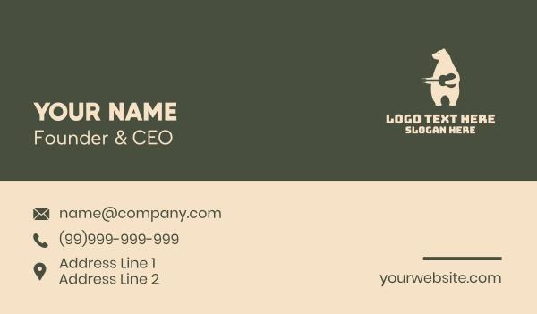 record player - White Polar Bear Guitar Business card horizontal design