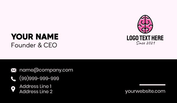 memory - Smart Brain Egg Business card horizontal design
