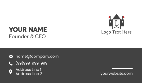 banner - Kingdom Flag Letter Business card horizontal design