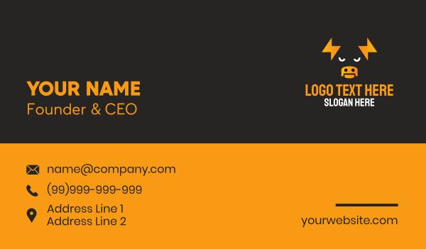 taurus - Thunderbolt Bull Business card horizontal design